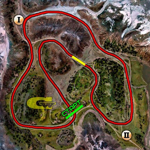 маршрут гонки 1-10 первый уровень