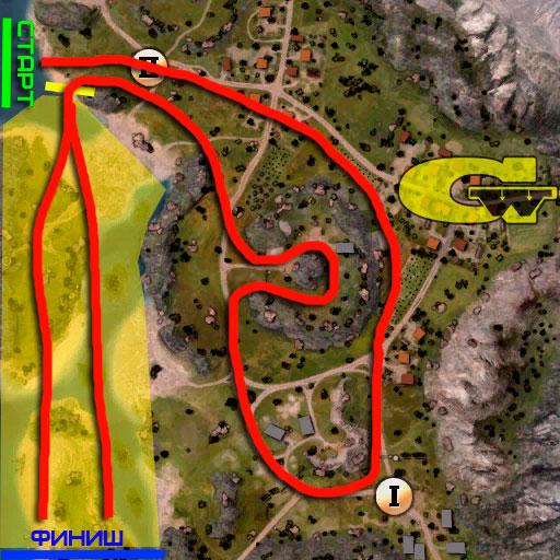 маршрут гонки в погоне за рудой